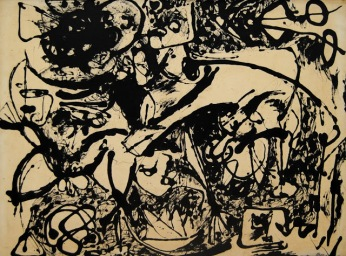 Jackson Pollock, Black Flowing, No. 8
